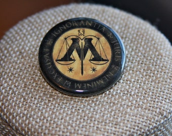 Harry Potter Ministry of Magic Button, Harry Potter Ministry of Magic Pin