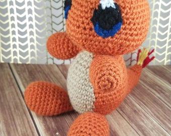 Charmander Amigurumi - Crochet Charmander - Charmander Doll