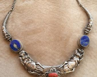 Precious Vintage Dragon Necklace