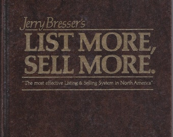 List More, Sell More by Jerry Bresser (Hardcover) 1983