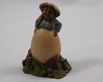 Debbie Gnome Figurine, #48, Tom Clark, 1980s, Easter Egg