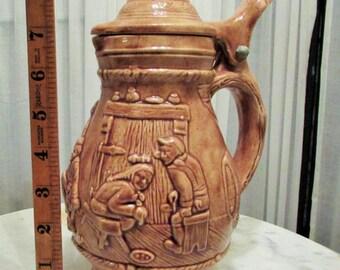 vintage beer stein jug, made in Holland