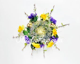 Digital Wreath Newborn Photography Prop / CUSTOM digital backdrops / Instant Download newborn wreaths