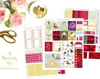 Tale as old as Time - Printable Planner Stickers - Instant Download