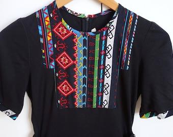 Amazing Vintage 1970s 1980s Folk Midi dress 12