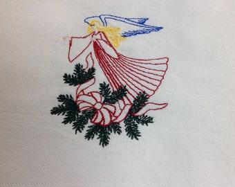 Angel flour sack dish towel