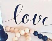 Farmhouse Love Sign, Rustic Love Decor, Love Decor, Love Sign, Love Wood Sign, Love Quote Wood Sign, Farmhouse Love