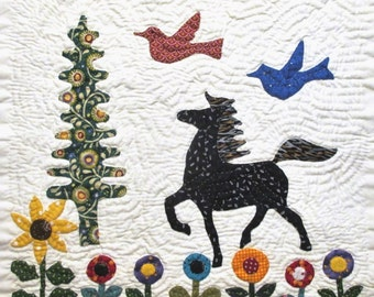 Horse Quilt Block Pattern for Nature's Bounty Quilt