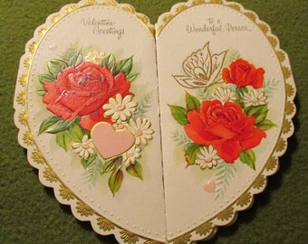 Vintage Valentine - Heart and Roses