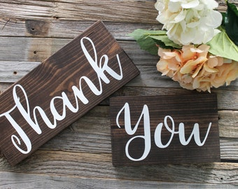 Thank You Wooden Sign| Rustic Wedding Decor| Wooden Wedding Decor| Wedding Photo Prop| Farmhouse Wedding| Winter Wedding