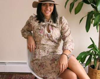 Safari Summer Dress | vintage 1970s