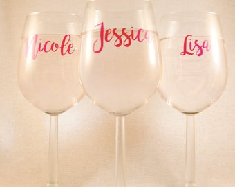 Personalised Name or Text Wine Glass