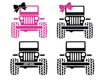 Jeep svg, jeep girl svg, car svg, svg, dxf, cricut, silhouette cutting file, download