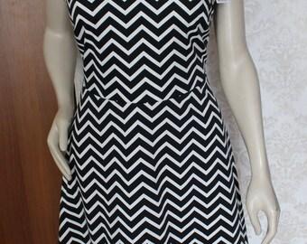Twin Peaks Black & White Zigzag Dress Black Lodge Women's