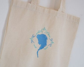 Tote Bag blue snow Queen