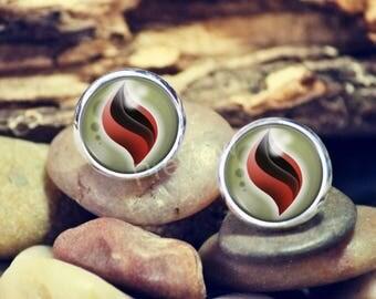 Blazikenite Mega Evolution Stone Pokemon earrings, Pokemon Evolution studs, jewelry, Anime earrings