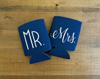 Mr. and Mrs. Beverage Insulator // Choose Your Color