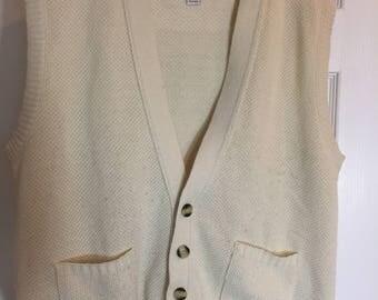 1980s Mens knit Sweater Vest