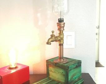 Brass Pipe Whiskey Dispenser