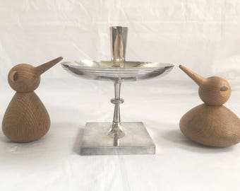 Large Tommi Parzinger Hollywood Regency silver plate candleholder Heirloom 700