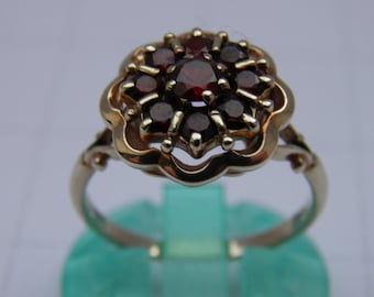Garnet and 9ct Gold Dress Ring
