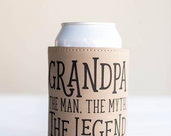 Gift for Grandpa, The Man, The Myth, The Legend, Funny Gifts, Papa Gift, Fathers Day, Gift for Dad from Grandkids, Gag Gift, Beer Cooler