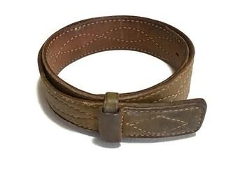 Vintage Distressed Justin Belt , Western Leather Belt