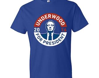 Underwood For President - T-Shirt - House of Cards, Frank Underwood, #FU2016