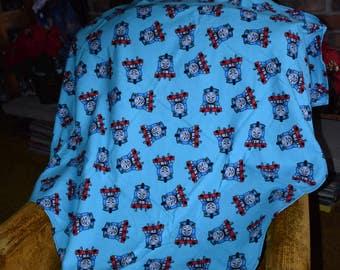 Tommy Train Baby Blanket