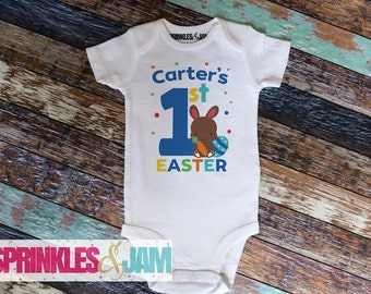 Boys My First Easter, Boys 1st Easter Onesie, First Easter Outfit Boy, Some Bunnys 1st Easter, Baby Boy Easter Onesie