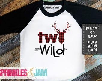 Two Wild Birthday Shirt, 2nd Birthday Shirt Boy, Second Birthday Shirt Boy, Boys 2nd Birthday Outfit