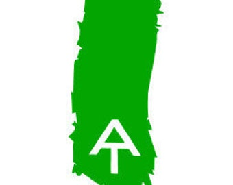 Appalachian Trail- TRAIL BLAZE- Quality Vinyl Decal; outdoor decal, hiking decal, AT, trail marker, Yeti decal, car decal, window decal