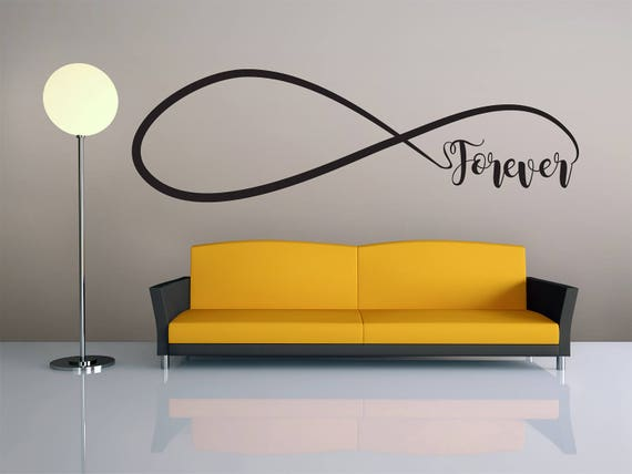 Wall Art Wall Decor Forever Love Infinity Wall Decal Home