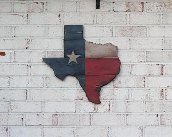 Wooden Texas Flag