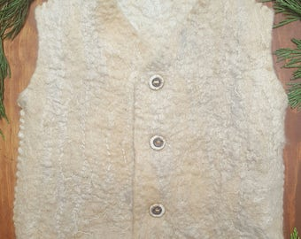 Little Bunny Angora Wool Vest