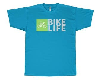Cycling Apparel - Bike Life - Cycling T-Shirt - Bicycle T-Shirt - Triathlon T Shirt - Turquoise