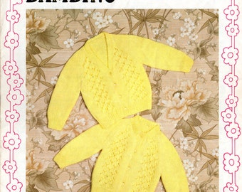 1970's Baby Cardigan Knitting Pattern, Robin 2801, 70s Knitting Patterns, baby knitting, baby cardigan patterns, vintage patterns beginners