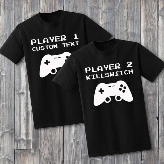 Custom Gamer Couples 100% Soft Cotton Matching Shirts