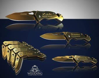 15 Personalized Knifes - 15 Groomsmen engraved gift - Best Man engraved tactical knife - Wedding & Birthday gift - Groomsman engraved gift