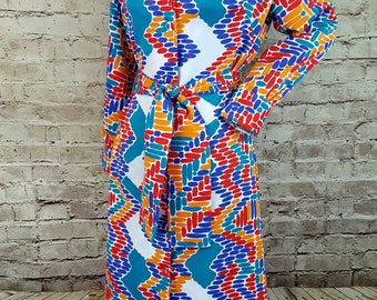 Vintage LANVIN Dress/1970's LANVIN Paris/Lanvin Shirt Dress/Designer Lanvin