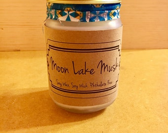 Best Soy Candle / Mason Jar Candle / Best Soy Candles / Moon Lake Musk / Mason Jar Candles / Housewarming Gift / Home Decor /Birthday Gift