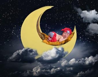 RTS Pajamas. Newborn Sleeper Hat & Pants Set. Newborn Photo Prop. Handmade Newborn clothes