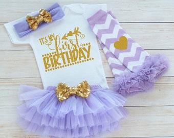 First Birthday Girl Bodysuit, One Birthday Outfit, Cake Smash Shirt, 1st Birthday Girl, Princess Birthday Shirt, Tutu Outfit, Birthday Gift