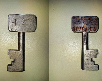 Rare Vintage KEY from railway turnout - switchman / railroad worker tool (Arrow control lock)