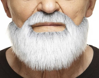 Short Boxed gray with white beard and mustache (155-MB)
