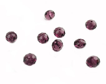 5 pcs, Genuine Swarovski® 5040 8mm Briolette Bead in Amethyst (204)