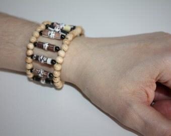 Paper Bead Bracelet #296