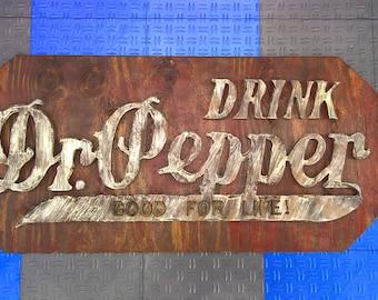 Dr. Pepper Vintage Sign Recreation