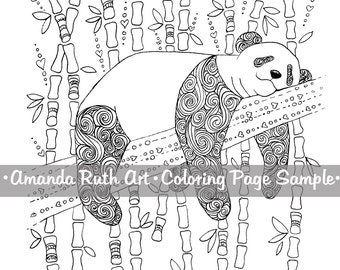 Sleepy Panda Coloring Page - Download, Print, Color
