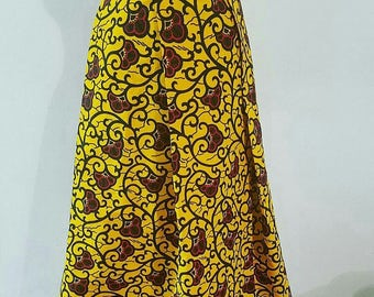 Ankara maxi skirt. Ankara pleated skirt. African print skirt. Long skirt. Women skirt. Skirt for women. Maxi skirt.